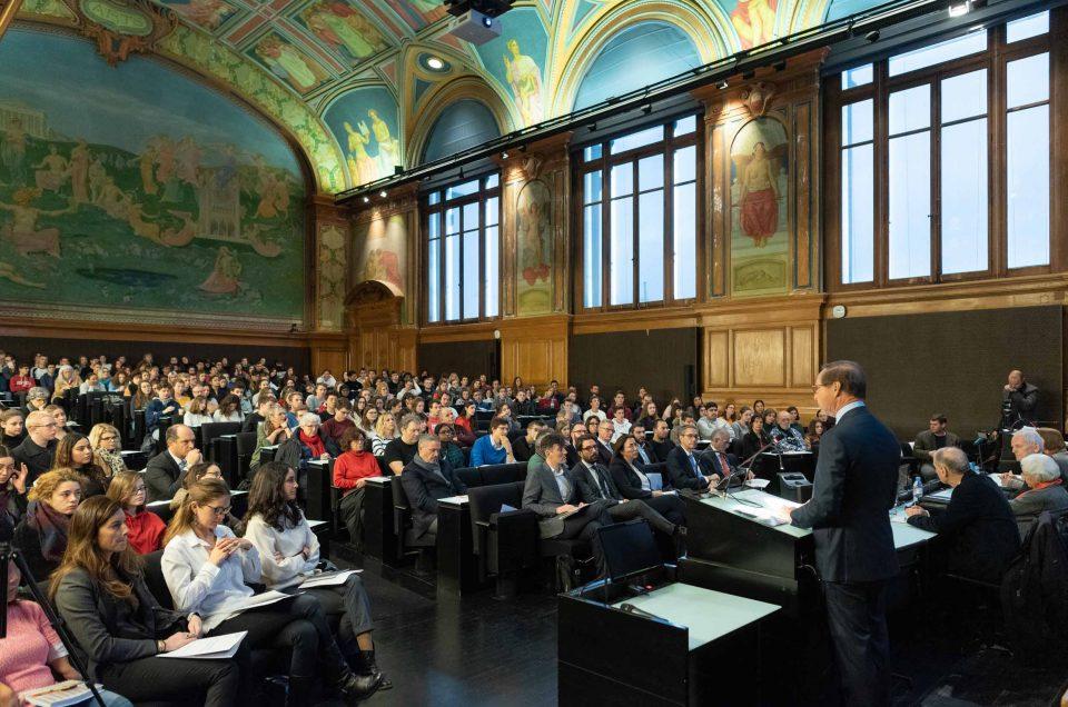 Conférence au Palais de Rumine Lausanne
