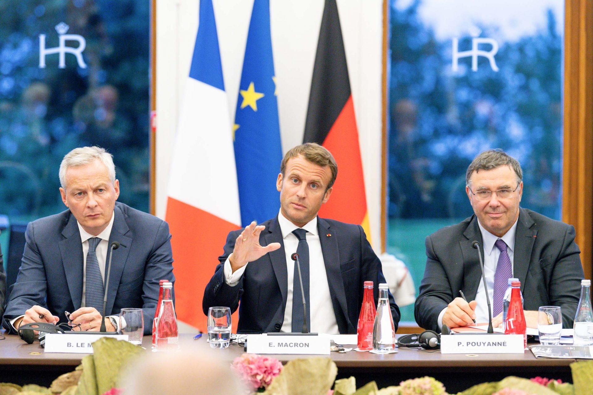 Emmanuel Macron Sommet Evian